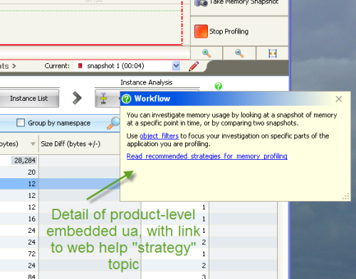 screenshot: product-level help