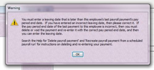 Quickbooks error message